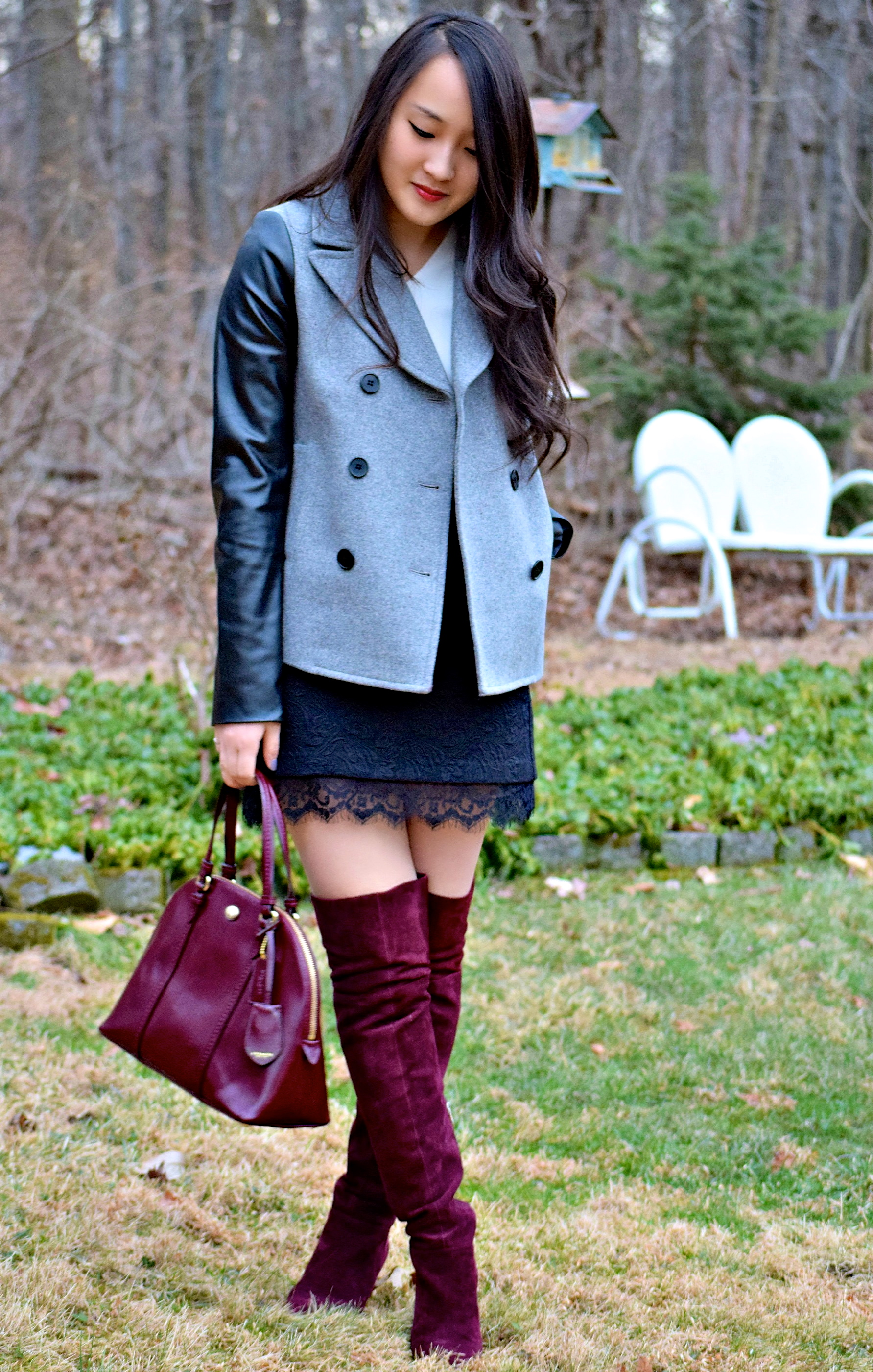 Burgundy over the knee boots | Aretau0026#39;s Style Secrets