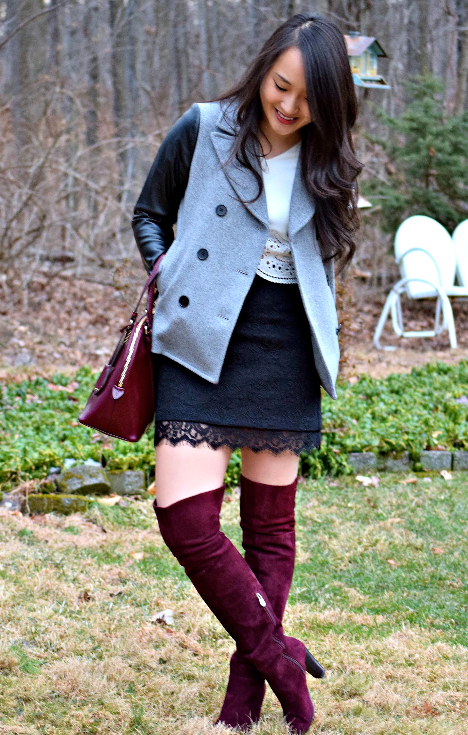 Burgundy Over The Knee Boots Areta S Style Secrets