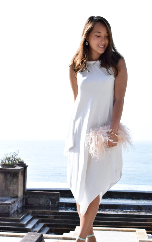 Little White Halter Dress 17