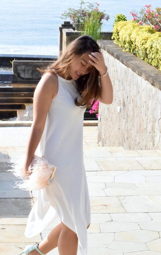Little White Halter Dress 6