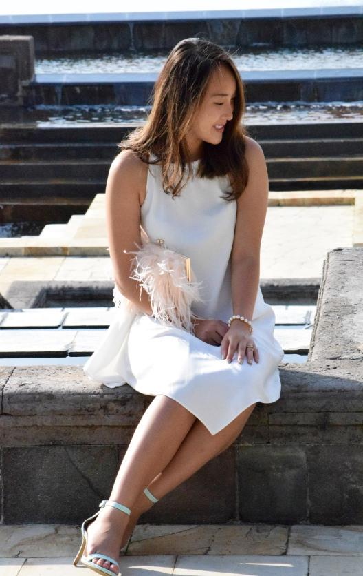 Little White Halter Dress 9